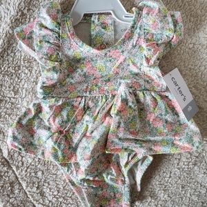 Carter's Floral Onsie Shirt